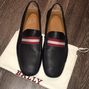 Authentic Bally Waltec Leather Driving Loafers